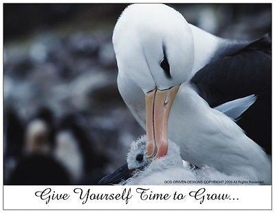 God Driven Designs Give Yourself Time to Grow Note Card Inspiration Bird Image