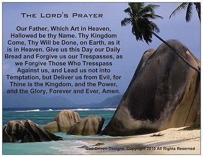The Lord's Prayer - Prayer Card