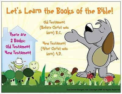 Let's Learn the Books of the Bible Kid's Prayer Card