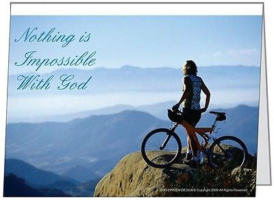 Nothing is Impossible Mountain Bike Greeting Card 5/Pack Set