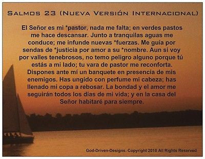 Psalm 23 Spanish Prayer Card