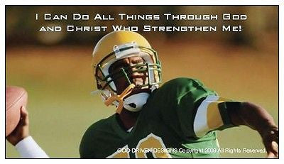 God Driven Designs Inspirational Football Magnet Image