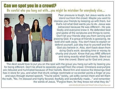 Can We Spot You in a Crowd Prayer Card