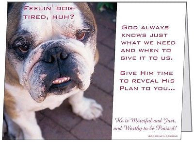 God Driven Designs Bull Dog Tired Inspirational Gift Idea Image
