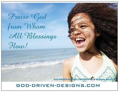 Praise God From Whom All Blessings Flow Beach Note Card 5/Pk Set