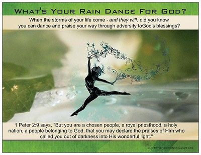 What is Your Rain Dance For God Inspirational Prayer Card