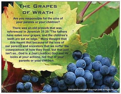 Grapes of Wrath Prayer Card