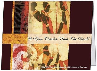 $2 O Give Thanks Unto the Lord Greeting Card 5/Pack Set