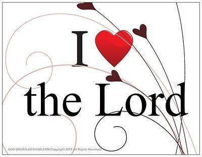$2 I Love the Lord Note Card 5/Pack Set
