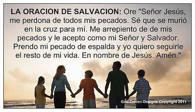 Prayer of Salvation Seed Card - in English and Spanish