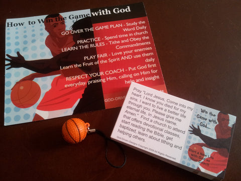 Men's Basketball Gift Set: Prayer Card, Seed Cards and a Key Chain
