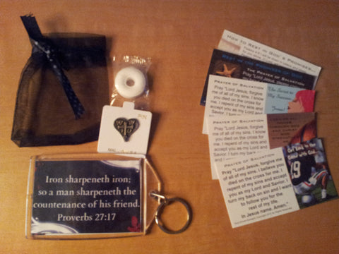 Iron Sharpens Iron Key Chain Packages (Sample Shown)