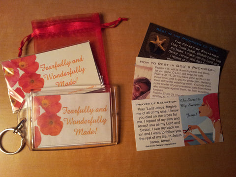 Fearfully & Wonderfully Made Key Chain Package (Sample Shown)