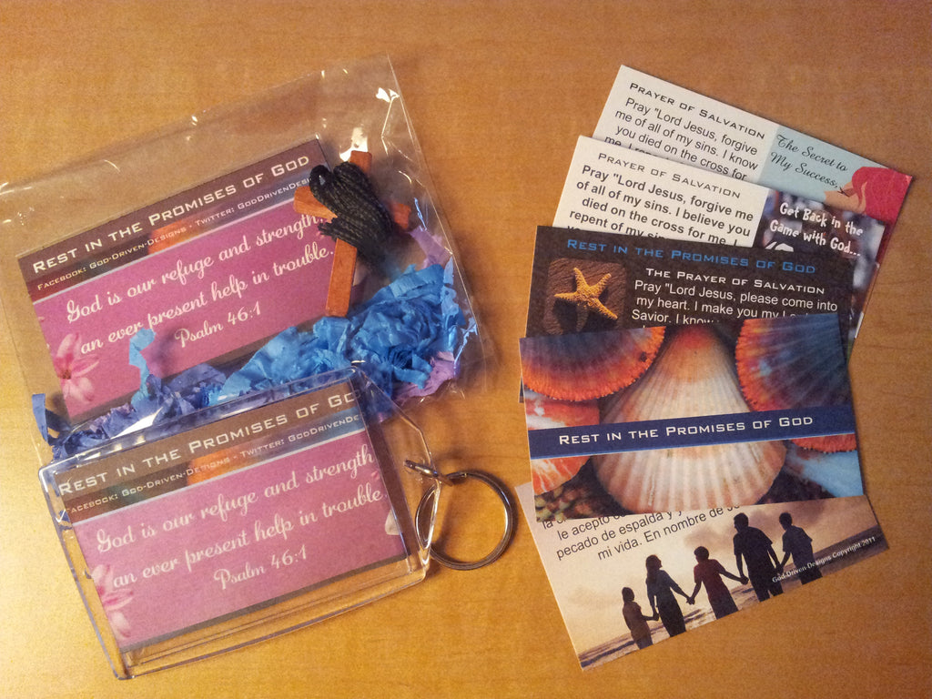 Rest in the Promises of God Key Chain Package (Sample Shown)