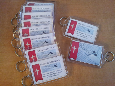 Custom Made Ministry or Event Key Chains (Sample Shown)