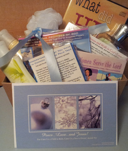 Custom Made Women's Holiday Church Ministry Gift Package - Various Sizes (Sample Shown)
