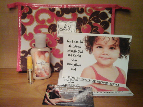 Baby Diva Gift Set with Clinique Make-up Bag, Bath Body Lotion & Etro or Anna