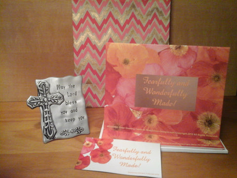The Fearfully & Wonderfully Made Gift Set: Magnet, Plaque, Inspiring Cards, and Bag