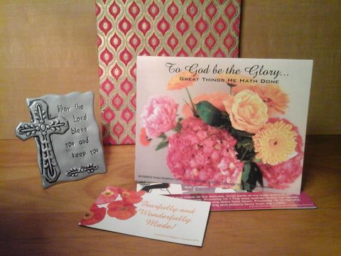 May the Lord Bless You Gift Set: Card, Plaque, Magnet, and Gift Bag
