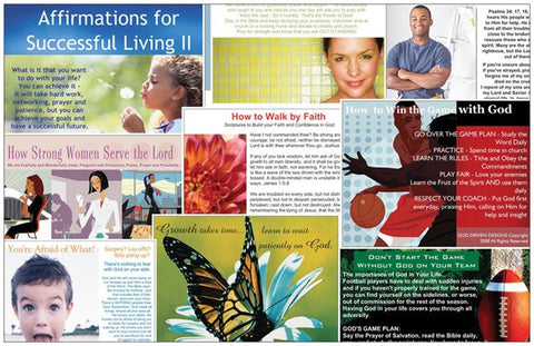 Assorted Inspirational Church Ministry Outreach Prayer Cards