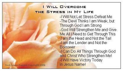 I Will Overcome The Stress in My Life Magnet