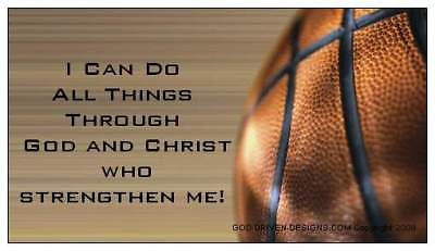 I Can Do All Things / God and Christ Basketball Magnet