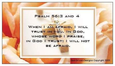 Psalm 56:3-4 Overcome Fear Magnet
