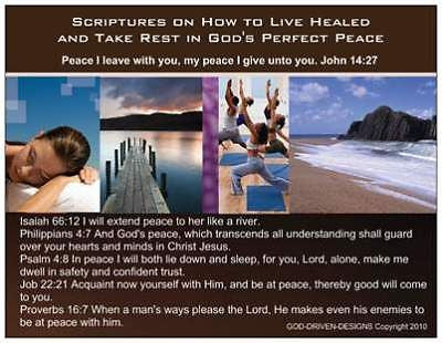 Live Healed & Take Rest Inspirational Prayer Card