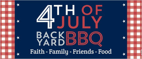 4th of July Summer Party Custom 2.5' x 6' Banner (Sample Shown)