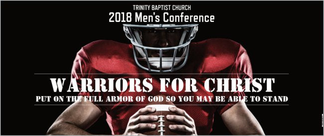 Create Your Own Custom 2.5' x 6' Conference Banner - Football Theme