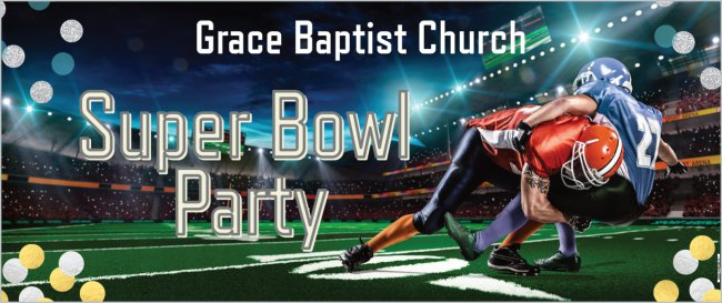 Create Your Own Custom 2.5' x 6' Party Banner - Football Theme
