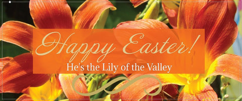 Custom Easter Banner for Church - Orange Lily / Lilies
