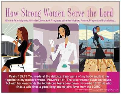 God Driven Designs Inspirational How Strong Women Serve the Lord Prayer Card Image