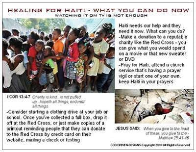Healing for Haiti Prayer Card