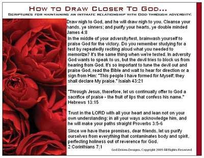 God Driven Designs Inspirational How to Draw Closer to God Prayer Card Image