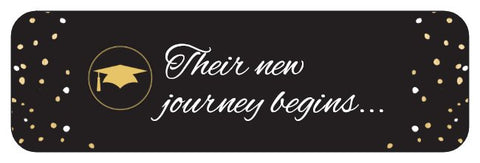 Graduation Labels - Custom Graduation Labels Their New Journey