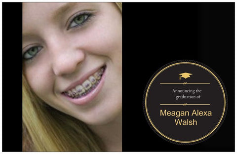 "Graduation Party Custom Horizontal Flat 5"" x 7"" Invitation Cards (Sample Shown)"