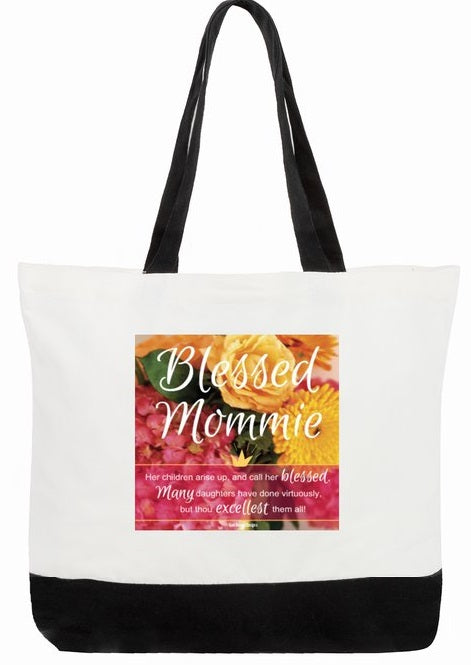 Best Mother's Day Bag - Blessed Mommie Proverbs 31:28a-29