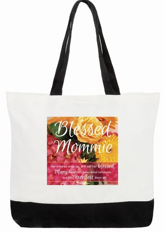Best Mom Bag - Blessed Mommie Proverbs 31:28a-29