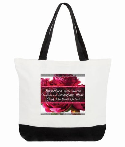 Blessed and Highly Favored Bag with Deuteronomy 28, Proverbs 31:28-31