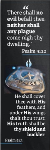 Bookmark with Psalm 91 for Police Officers