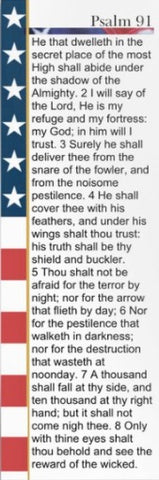 American Flag Psalm 91 Bookmark