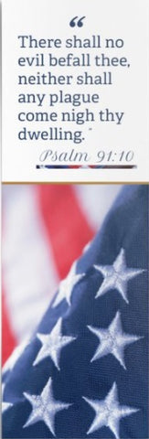 Psalm 91 Bookmark - Red, White and Blue Flag