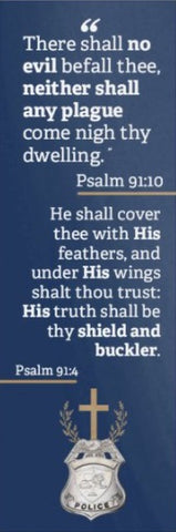 Badge Psalm 91 Bookmark - Police Officers