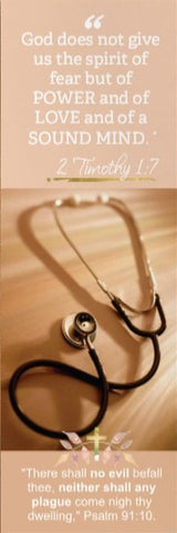 2 Timothy 1:7 & Psalm 91 Bookmark - Healthcare Medical