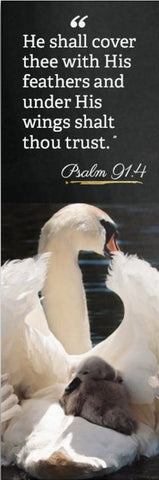 Psalm 91 Bookmark - Swan and Baby