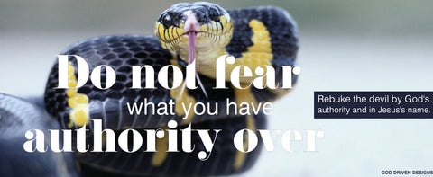 Do Not Fear - By God's Authority Banner - Snake Image