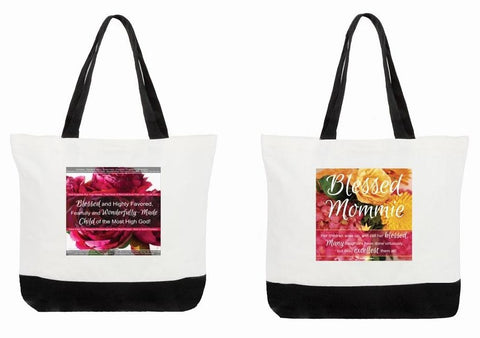 Best Mother's Day Tote Bag Double-Sided Floral Bible Verses