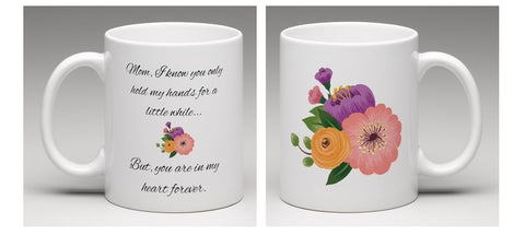 Hold My Hand Floral Mom Mug