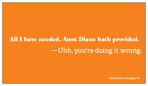Lean on God not Man - Aunt Diane Conversation Starter Cards